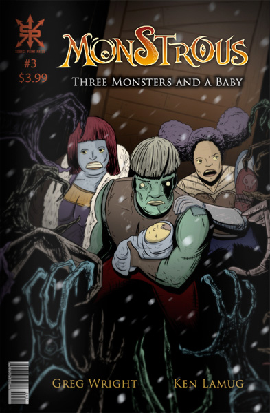 Monstrous THREE MONSTERS AND A BABY